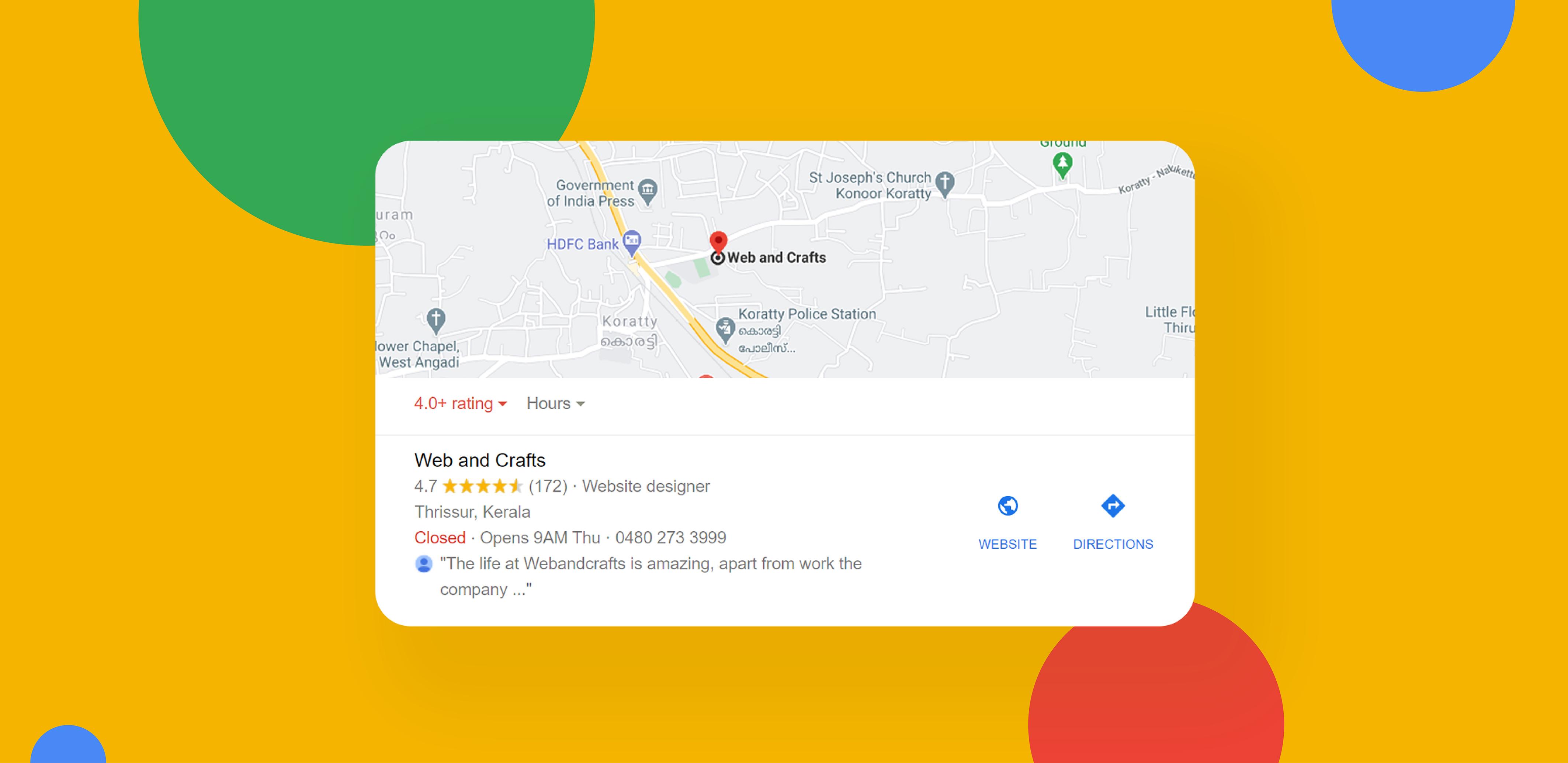 Google My Business Optimisation Benefits