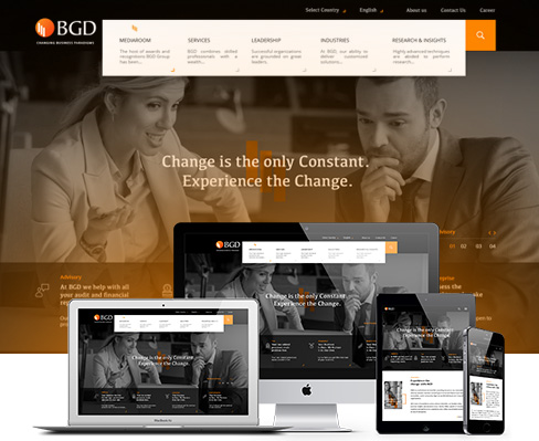 Web designing and Web development of BGD Group