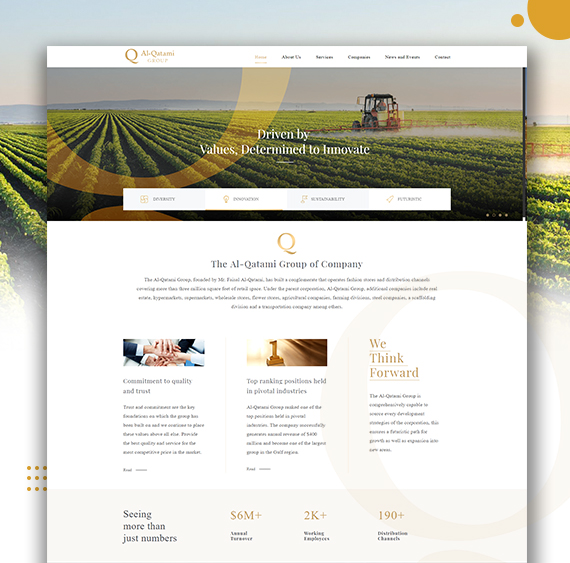Web designing of Alqatami Group