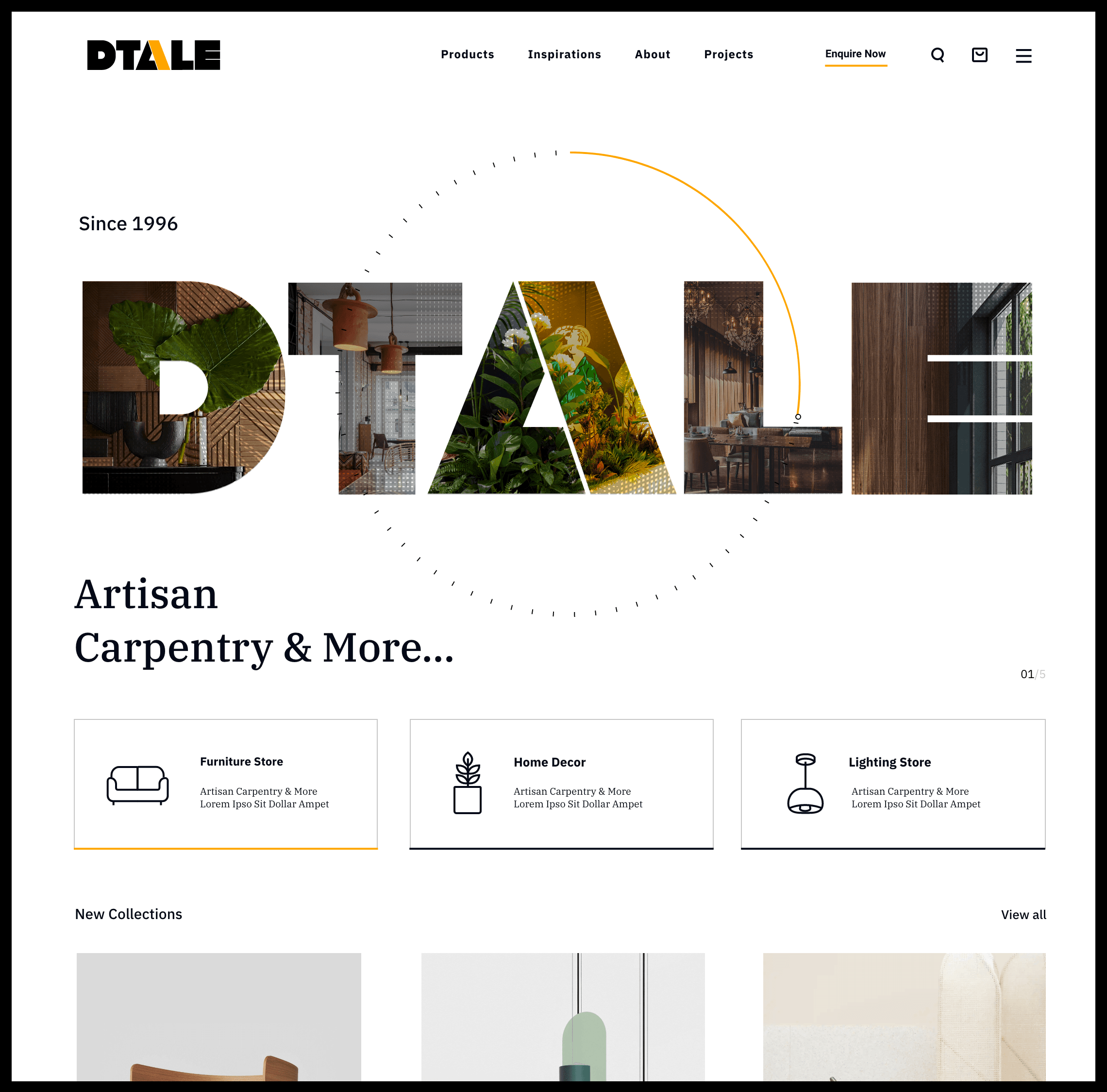 Ecommerce development of Dtale