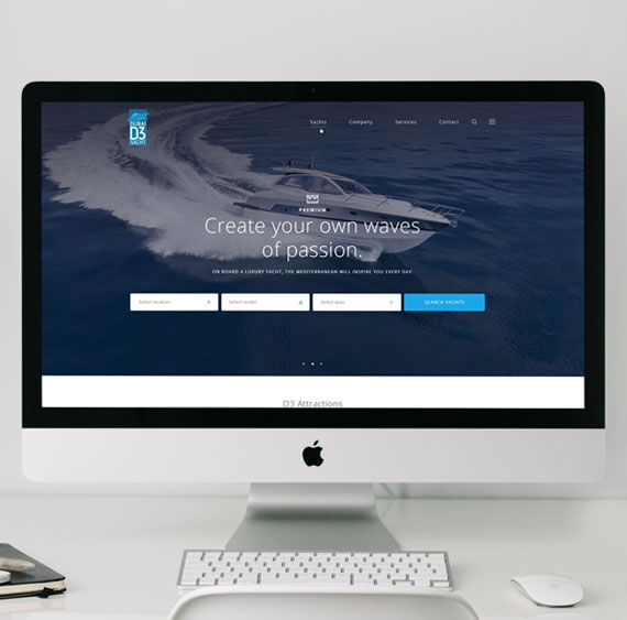 Website for DubaiD3Yacht