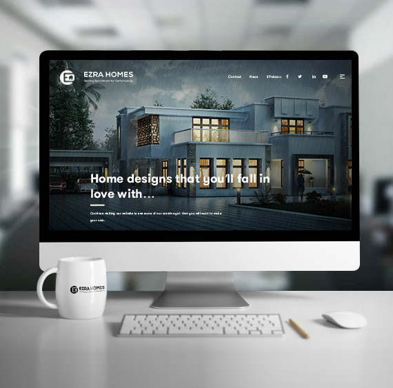 Website for Ezra Homes