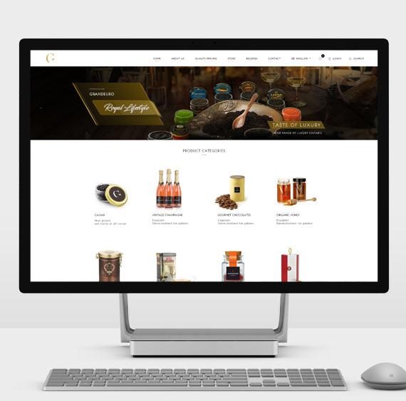 ecommerce development of Grandeuro