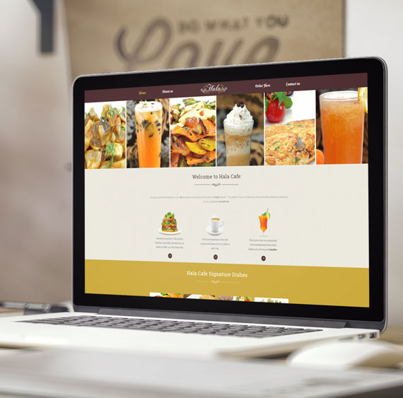 ecommerce development of Hala Cafe