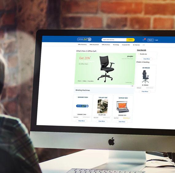 ecommerce development of Office Gulf