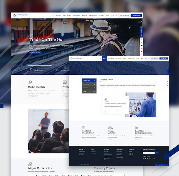 Web designing of Orient Finance