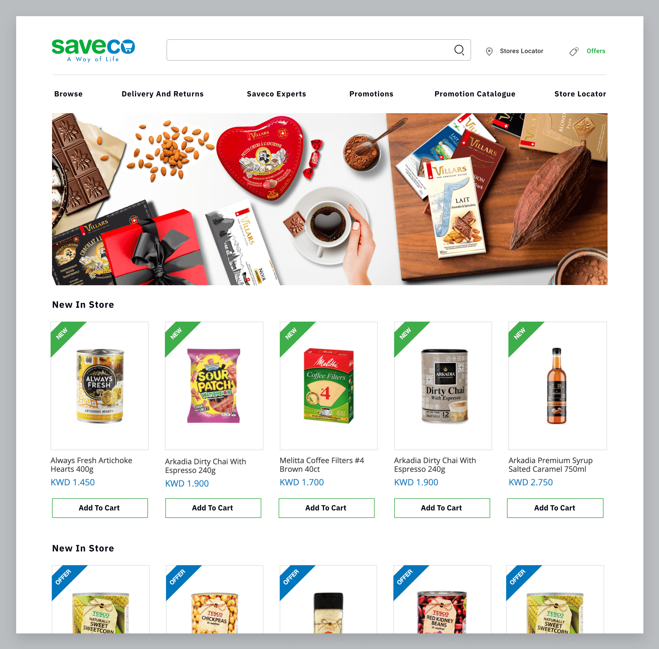 Ecommerce development of saveco