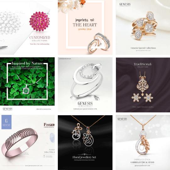 social media marketing for Genesis Diamonds