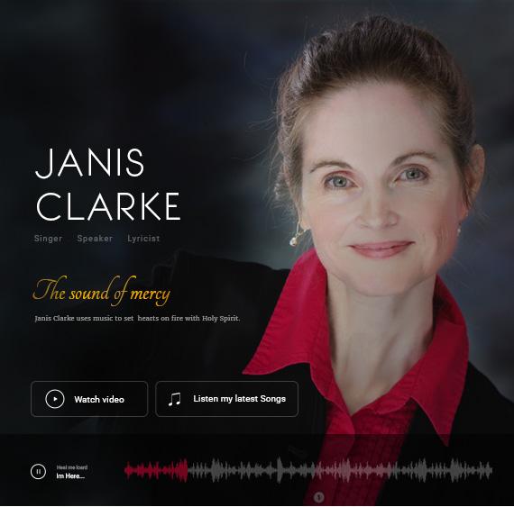 Website for Janis Clarke